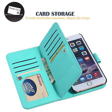 Leather Removable Wallet Magnetic Flip Card Case Cover For Apple iPhone 7 Plus
