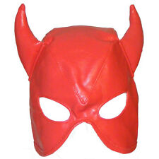TheSexShopOnline - Bondage Faux Leather Devil Lace Up Gimp Mask / Hood
