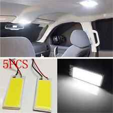 5X 12V COB 18-LED Plate Car Interior Dome White Light Bulb T10 Festoon Lights FT