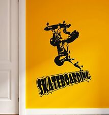 Wall Stickers Vinyl Decal Skateboarding Extreme Sports for Youth (ig588)