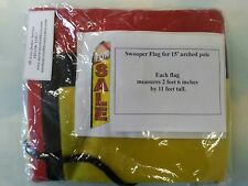 $ CAR DEALER LOT Giant Advertise Swooper Flag for 15' Pole FOR SALE red/yellow