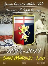 Francobollo Genoa Cricket and Football Club 120 anni 1893-2013 San Marino RARO
