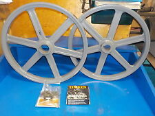 "BANDSAW WHEELS BANDWHEELS 19"" PAIR  BRAND NEW BANDWHEELS FOR SAWMILL FLAT TOP"