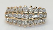 Vintage 10K Yellow Gold 1 TCW Brilliant Diamond Cluster/Cocktail Ring