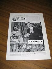 1938 Print Ad Hamilton Watch Men's & Ladies Wrist Watches Christmas Gifts