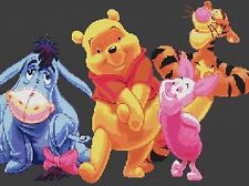 "Winnie The Pooh & Friends Counted Cross Stitch Kit  20"" x 14"" Designs In Thread"