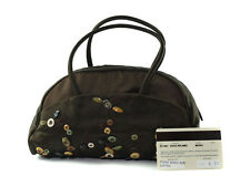 Authentic PRADA Rayon, Silk Browns Mini Hand Bag PH6790L