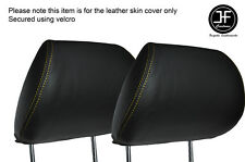 YELLOW STICH 2X FRONT HEADREST SKIN COVERS FITS HONDA CIVIC FK2 TYPE S MK8 06-12