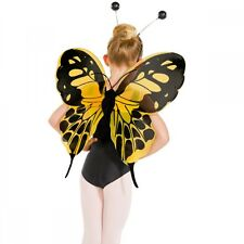 Yellow & Black Butterfly Wings - Animal Fancy Dress Dance Costume