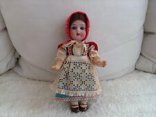 Antica PORCELLANA testa bambola-CAPPUCCETTO ROSSO