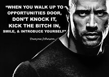 DWAYNE JOHNSON A4 THE ROCK INSPIRATIONAL QUOTE POSTER PRINT PICTURE