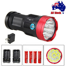 Rechargeable SKYRAY 20000LM 9xCREE XM-T6 LED Flashlight Torch Hunting 4*18650 AU