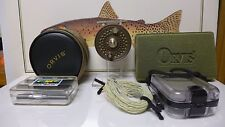 Orvis CFO I DISC FLY REEL; Made In England; Bronze; w 2 lines and 3 fly boxes
