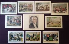 Currier & Ives Vintage Lot 10 GEORGE WASHINGTON Original Art Print Lithographs