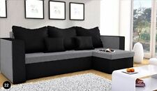 New Corner Sofa Bed MOJITO with Storage in GREY & BLACK  FREE DELIVERY