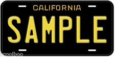 Black California Any Name Novelty Car License Plate