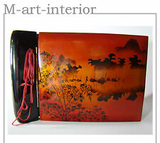 alter Album Fotoalbum China-Lack auf Holz Lacquer Wooden Photo Album Asien