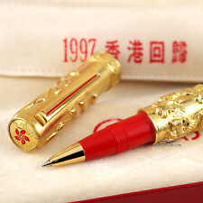 "Omas 1997 ""Return to the Motherland"" Hong Kong Solid 18k Gold LE Rollerball Pen"