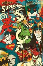 DC COMICS RETRO THROWBACK POSTER 22x34 NEW SUPERMAN BATMAN FAST FREE SHIPPING
