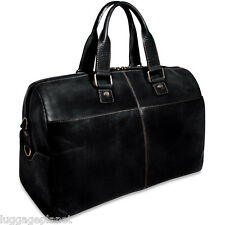 "Jack Georges Voyager Leather 18"" Carry On Cabin Bag Black 7318"