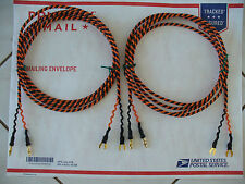 Belden 9497 8ft. Speaker Cables Small Spades Banana Vintage Tube Amps Great Tone