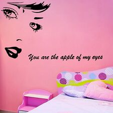 You are the apple of my eyes Pretty Woman Wall Quote Sticker PVC Vinyl Art Decal