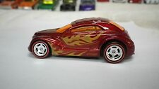 2016 Hot Wheels Red Chrysler Pronto PT Cruiser Coupe Flames Custom Real Riders