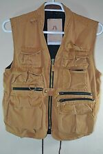 Kakadu Traders Australia Vest with Leather Lined Collar Sz S Hunting Fishing NWT