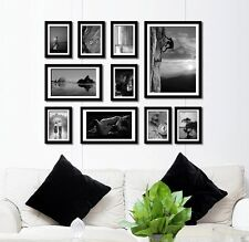 Beaty Handcrafted Wooden 10 pcs photo picture frame set wall mounted