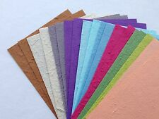 20 Small Sheets of Handmade Mulberry Paper - Card making, Craft, Scrapbooking
