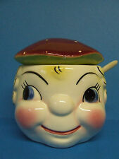 Vintage Napco Girl Jam/Sugar/Condiment Jar (#K2968)