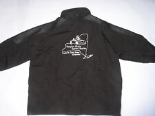 'EMPIRE STATE SPRINT SERIES' EMBROIDERED JACKET! CONCEALED HOOD! BLACK NYLON! XL