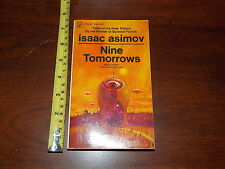ISAAC ASIMOV NINE TOMORROWS TALES OF THE NEAR FUTURE 1969 OLD PAPERBACK BOOK