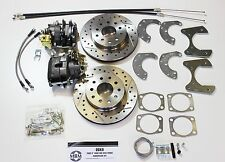 FORD MUSTANG DISC BRAKE KIT FITS ALL 8 3/4 DIFFS CROSS DRILLED & SLOTTED ROTORS