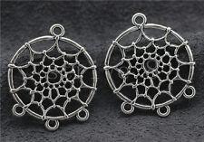 Lot 5/20/100pcs Tibet Silver Dreamcatcher Connector Charms Pendant DIY 34x28mm