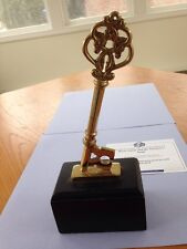 Harry Potter and The Sorcerers Stone Screen Used Gold Key on Stand Prop with COA