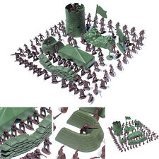 100 pcs Military Plastic Toy Soldiers Army Men 3cm Figures & Accessories Playset