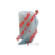 LOTS DE ROULEAU FILM A BULLES 50 CM x 50  EMBALLAGE PAPIER BULLE + 1 adhesif