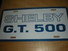 1965 - 1970 2007 - 2013 SHELBY GT500 GT-500 MUSTANG METAL LICENSE PLATE WHIT/BLU