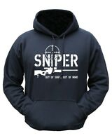 Sniper Out of Sight Military Hoody Army Black Fleece Jumper M-XXL