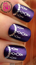 NAIL ART WRAP WATER TRANSFER DECALS SHINEY SILVER LINKED HANGING CHANDELIERS #22