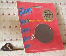 Gibson Les Paul Switchplate Cover Brown Guitar Parts Vintage Switch Plate NOS