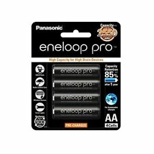 4x Panasonic Eneloop Pro 2450mAh AA High Capacity Rechargeable Batteries New JE