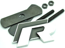 New Black R Line Logo Racing Grill Badge Emblem For VW Golf Passat