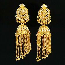 Jhumka Earrings Jewelry 18K Gold Plated Long Chandelier Bollywood Jewellery