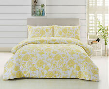 100% Cotton print 3pc comforter Set (QUEEN YELLOW)