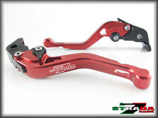 Triumph 675 STREET TRIPLE 2008 - 2015 Strada 7 Adjustable CNC Short Levers Red