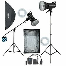Godox 2* 400Ws 800Ws Photo Monolight Studio Strobe Flash Softbox Light Stand Kit