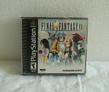 PLAYSTATION 1 PS1 BLACK LABEL 2000 FINAL FANTASY IX 9 100% WORKS EXCELLENT