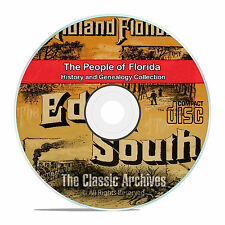Florida FL, People, Cities, and Towns, History and Genealogy 11 books DVD CD V99